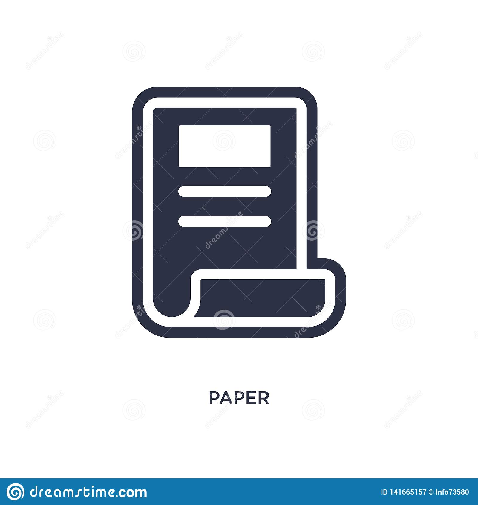 paper icon on white background. Simple element illustration from history concept