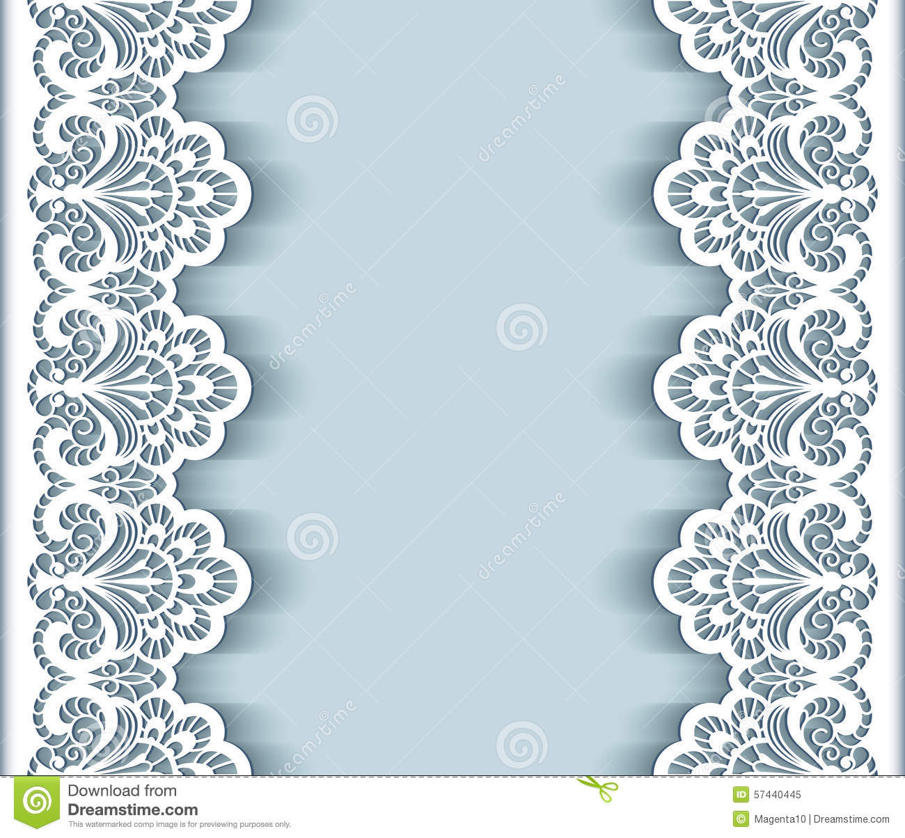 Paper Lace Border Background Vector Image 57440445 – Border Paper Template