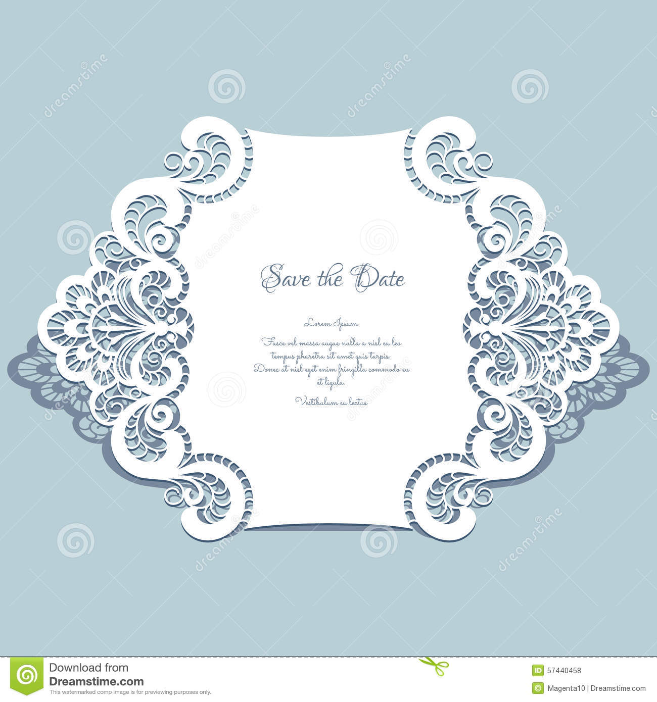 paper lace card stock vector illustration of announcement 57440458