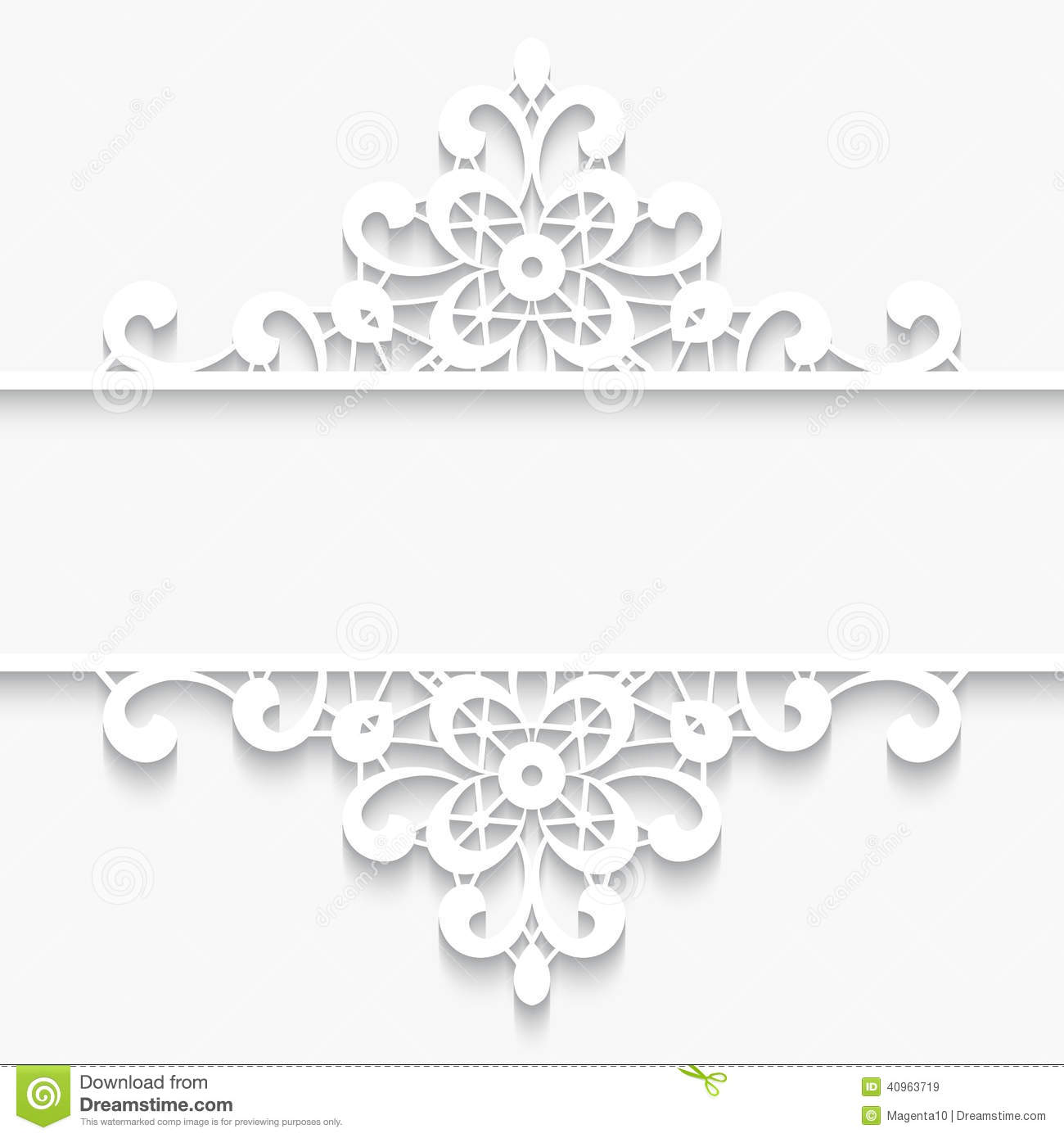 Abstract paper lace background, lacy divider, ornamental frame on ...