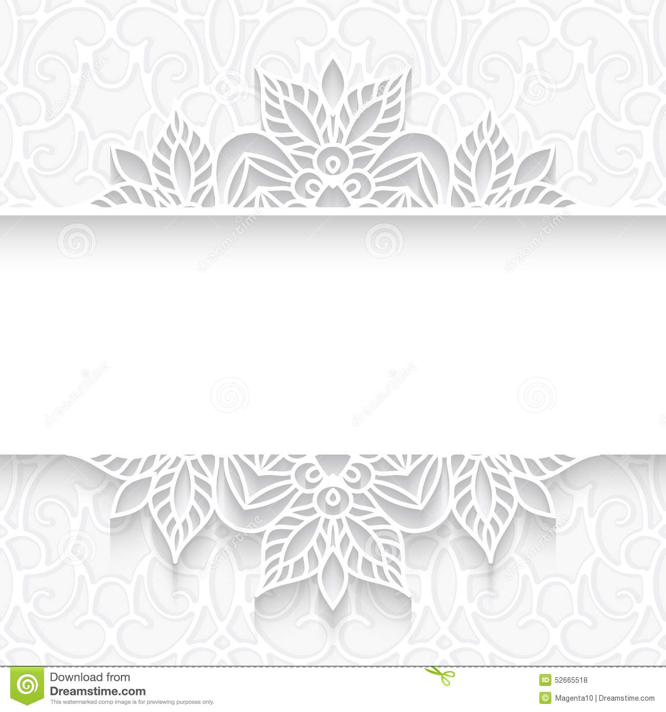 Paper Lace Divider Frame Stock Vector Image Of Banner