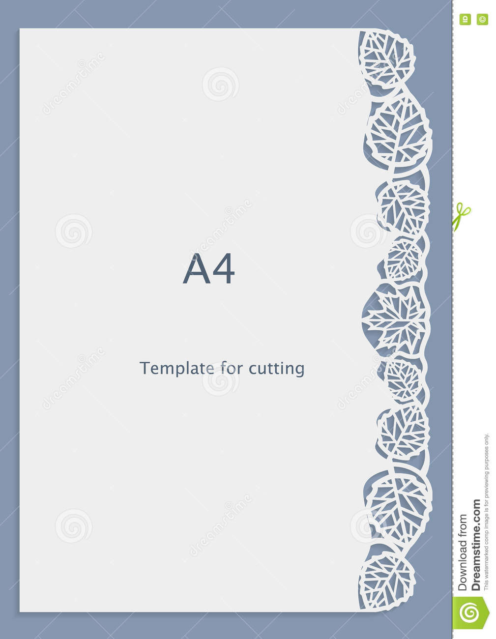 A4 Paper Lace Greeting Card Wedding Invitation White Pattern Cut