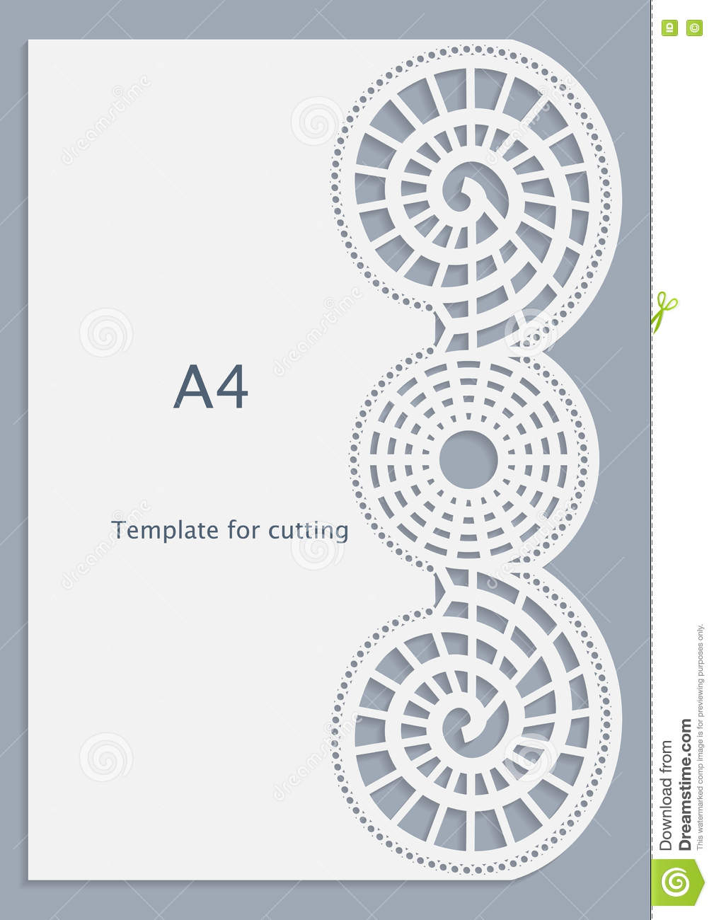 a4 paper lace greeting card white pattern cut out template