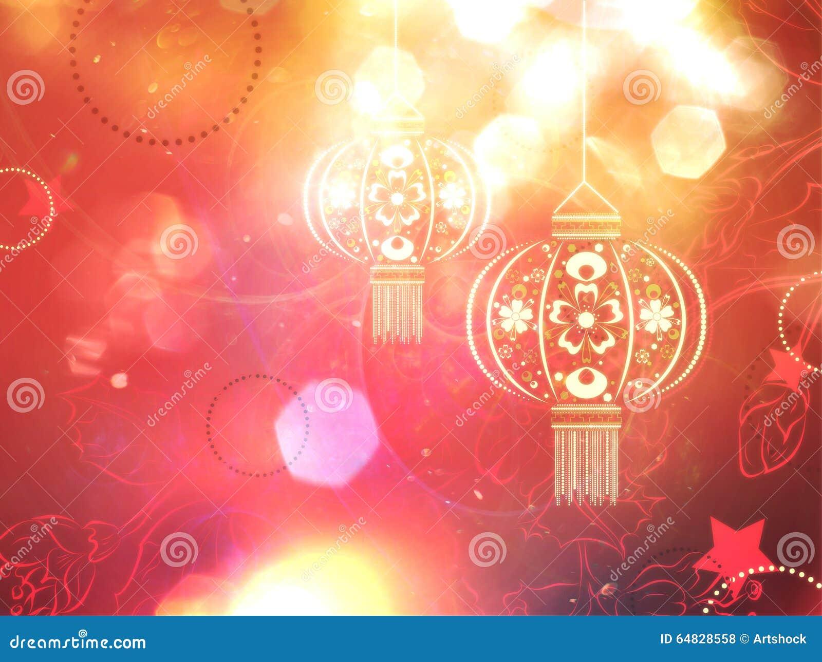 Paper Lantern With Flowers Stock Illustration Illustration Of