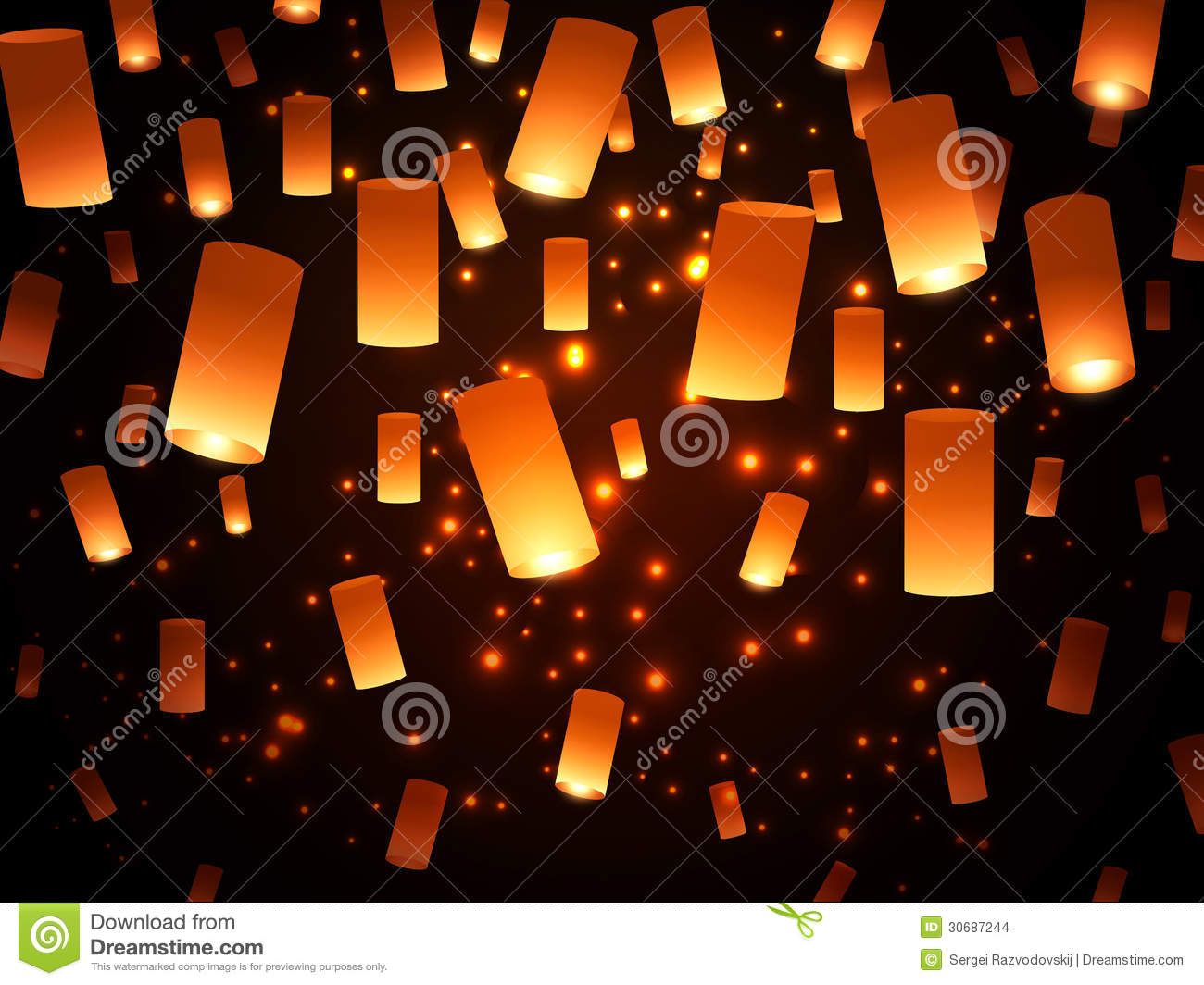 Paper Lantern Lights Stock Photo Image Of Bright Attraction