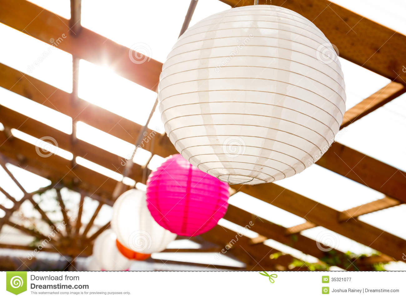 Paper Lantern Wedding Decor Stock Image Image Of Details