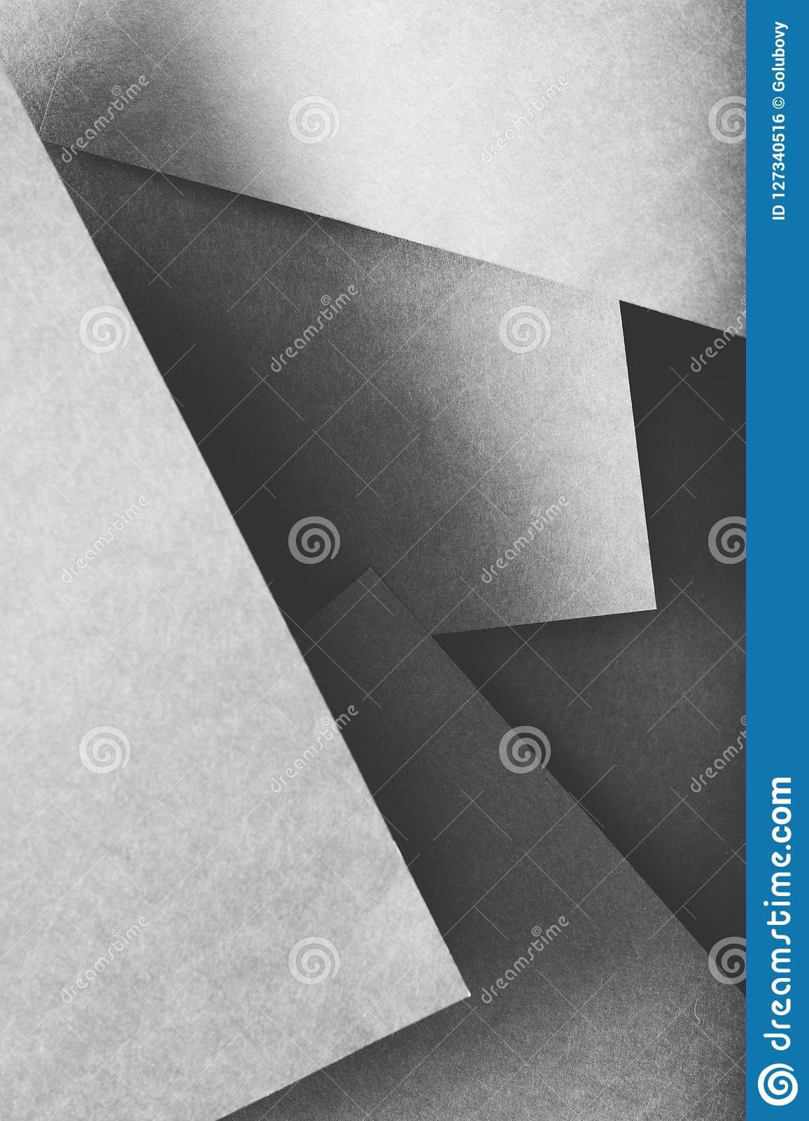 Paper layers abstract geometric background grey