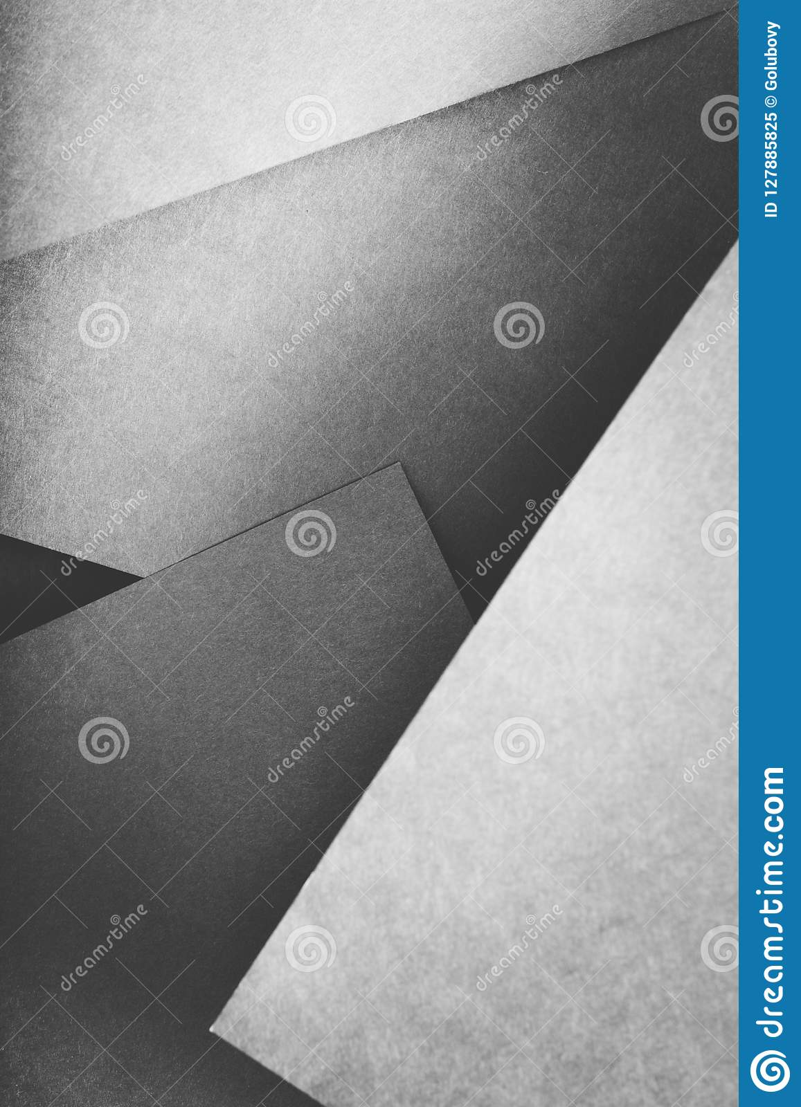 Paper layer abstract geometric gray sheet collage