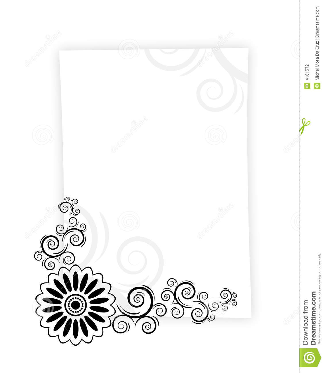 Paper Letter Frame Stock Photography - Image: 4161572