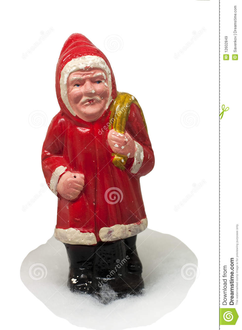 Paper-mache Santa Claus Toy (with Sack) Royalty Free Stock Images ...
