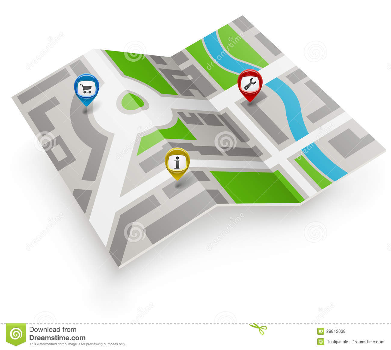 Paper Map Icon Royalty Free Stock Photos Image 28812038