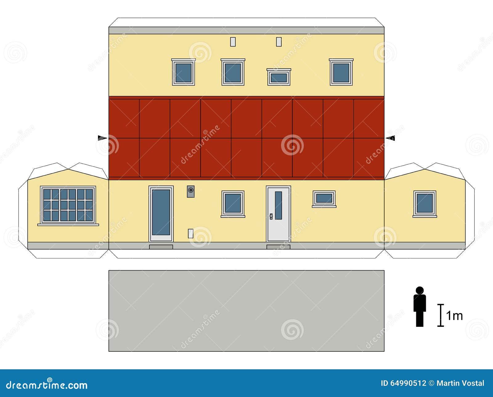 paper model of a caravan cartoon vector 83402893. Black Bedroom Furniture Sets. Home Design Ideas