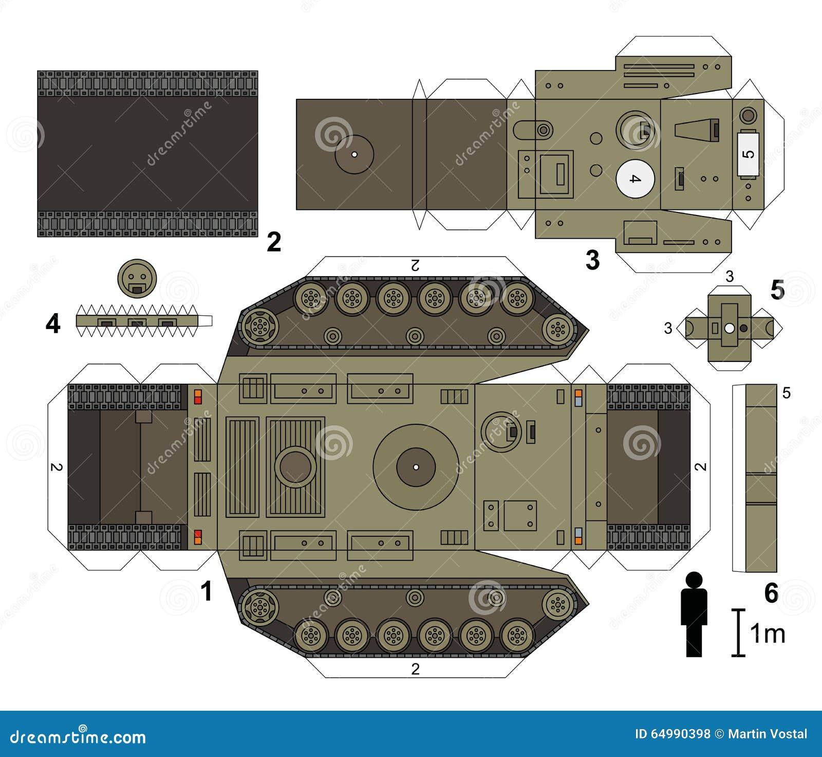 Как сделать танк из бумаги как настоящий