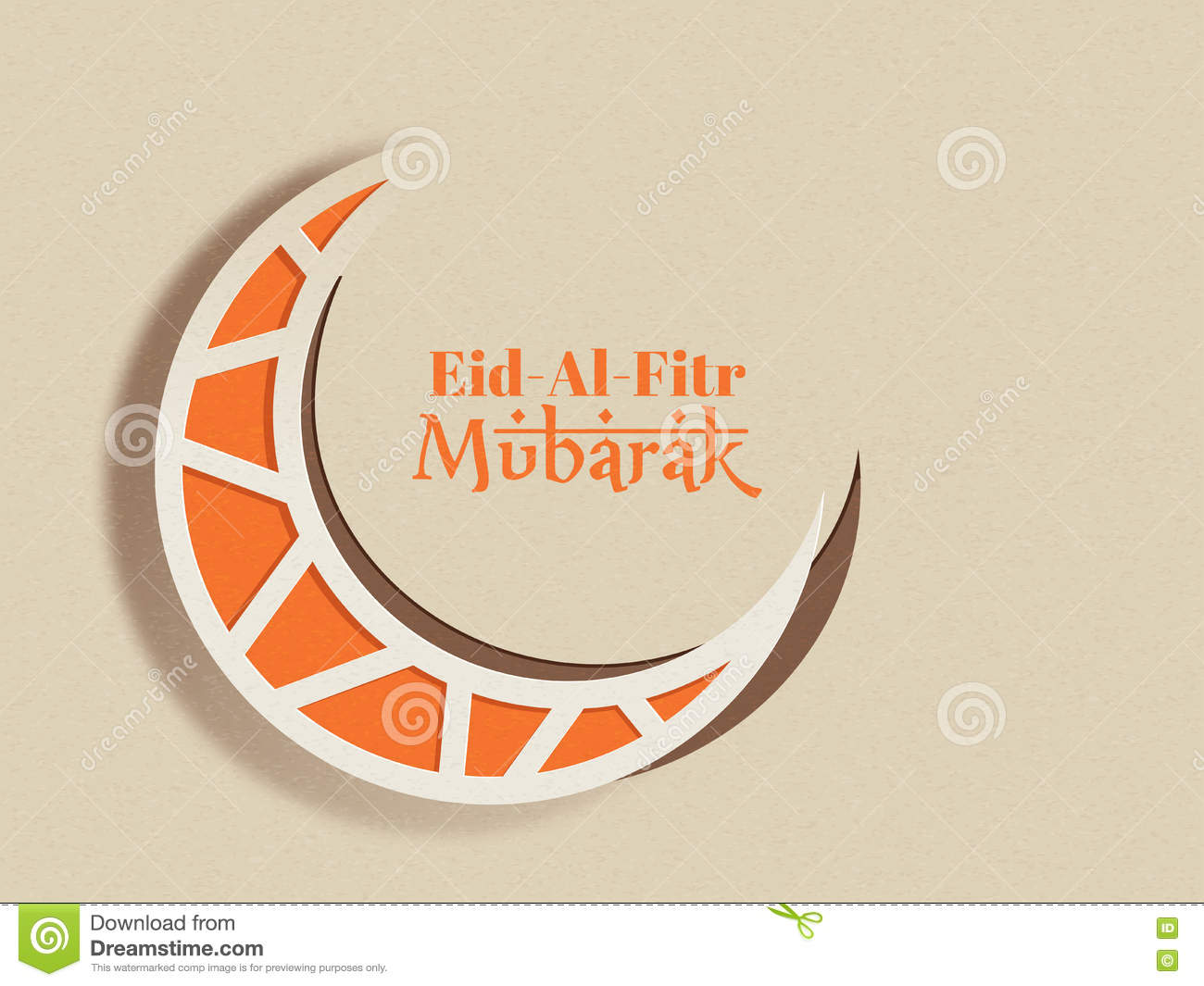 Paper moon for eid al fitr mubarak stock illustration paper moon for eid al fitr mubarak kristyandbryce Image collections
