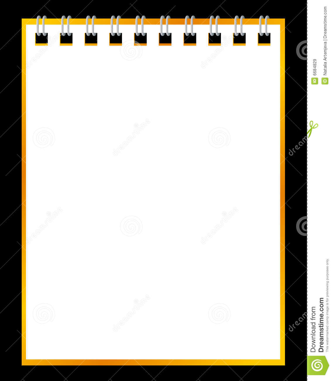 paper notebook on black background royalty free stock