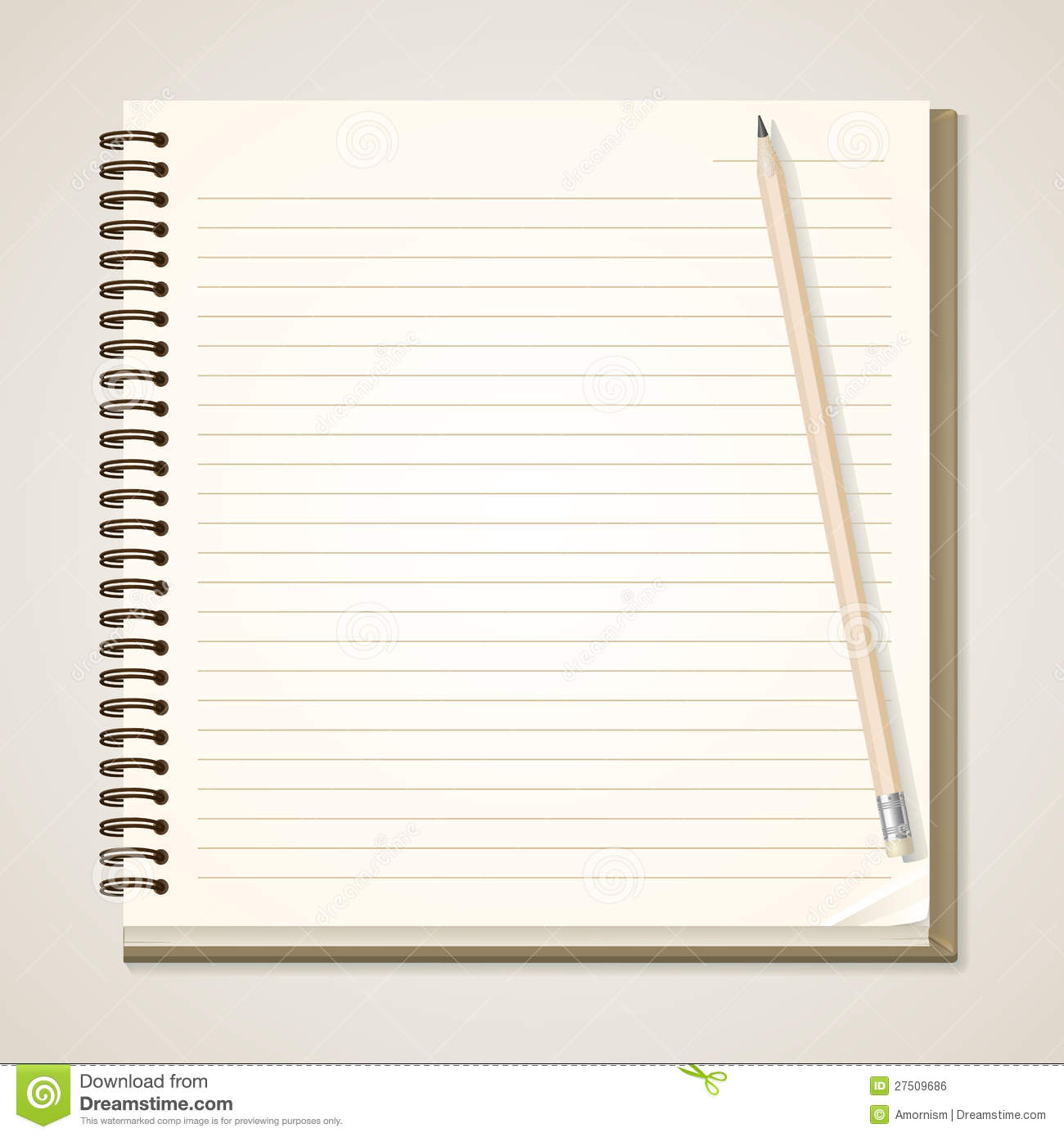 Paper Notebook And Pencil Royalty Free Stock Image - Image ...