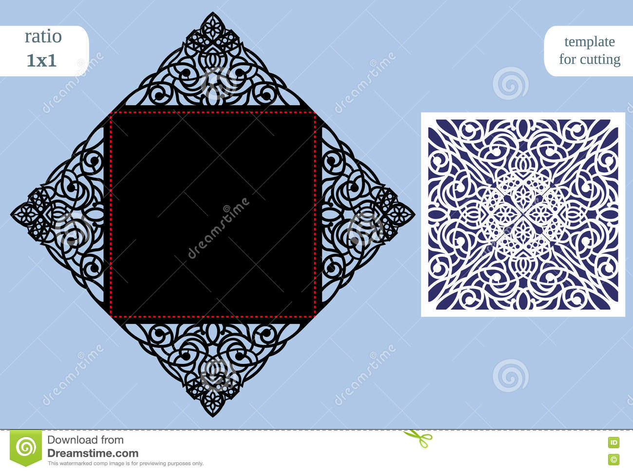 paper openwork square greeting card wedding congratulation