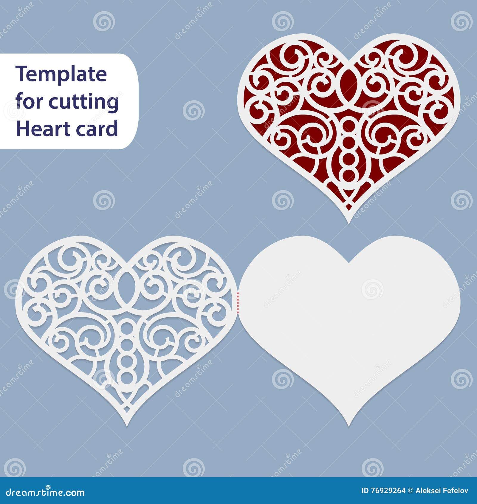 Paper Openwork Wedding Card Heart Shape Greeting Postcard