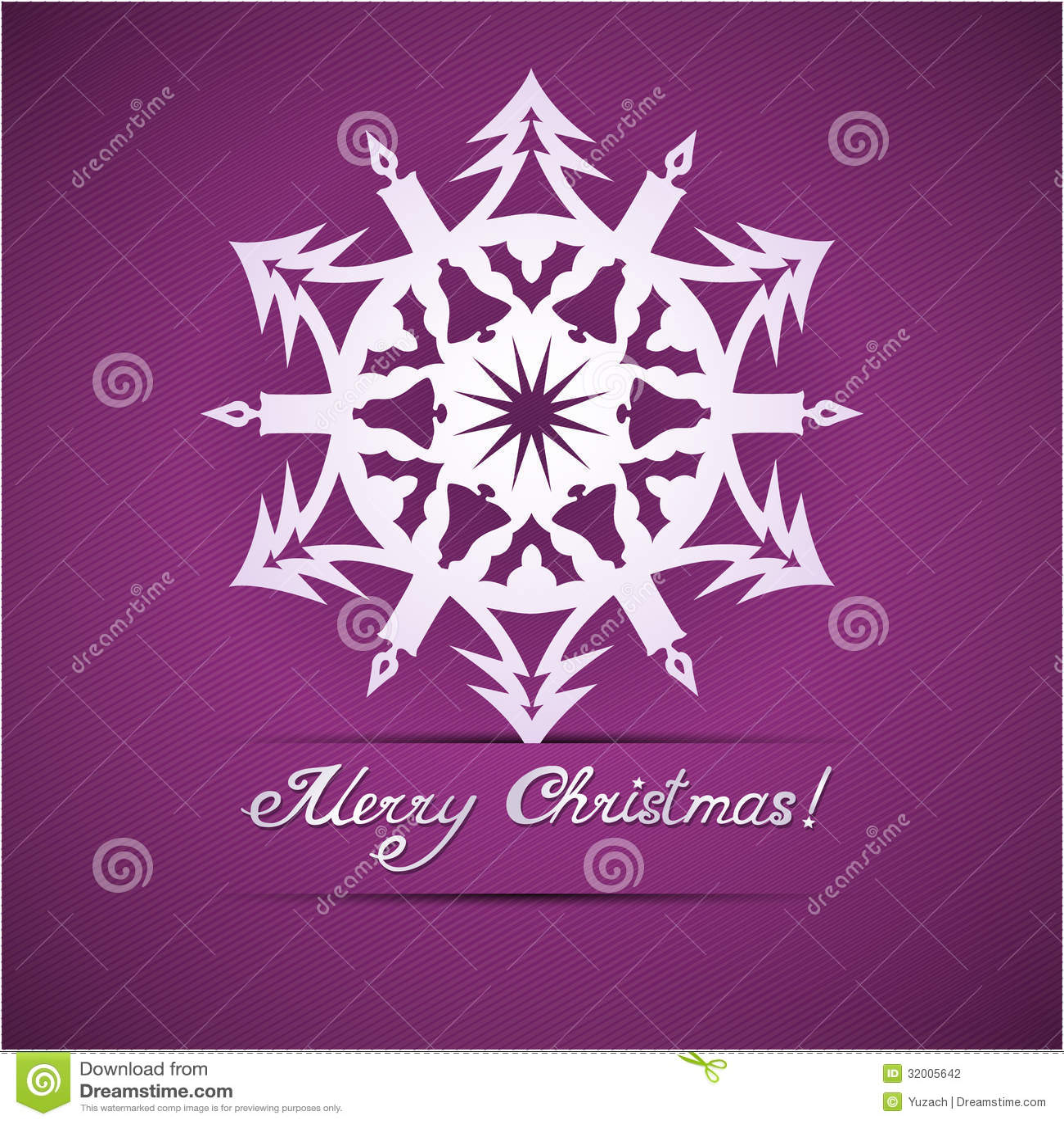 Paper Origami Christmas Card Stock Illustration - Illustration of ...