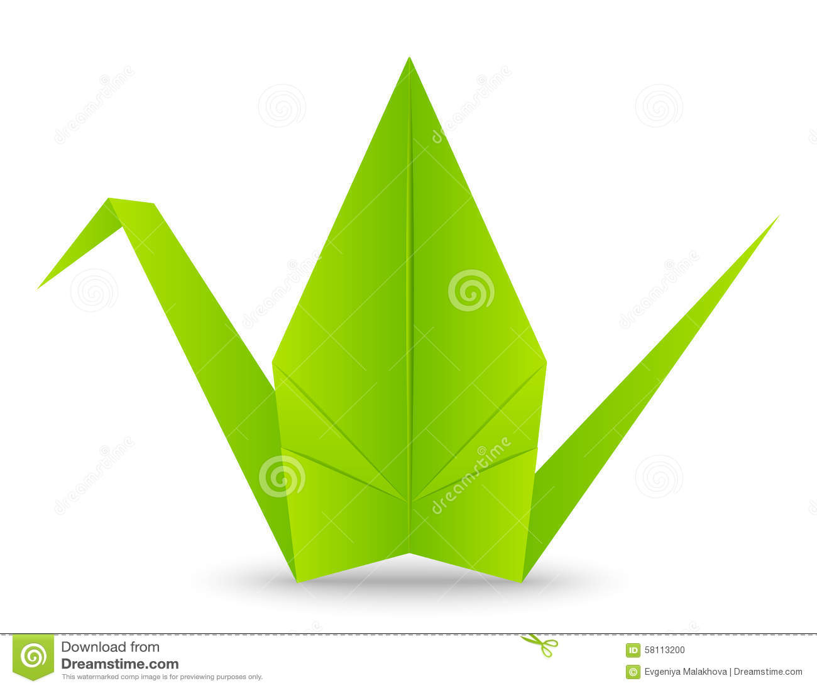 Paper Origami Crane On White Stock Vector Illustration Of Sheet Pics Photos Swan Diagrams