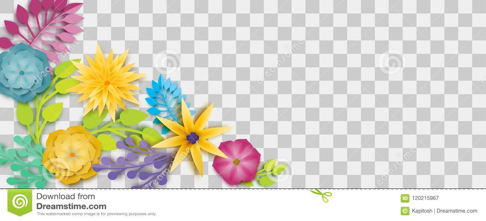 Paper Origami Flower Vector Stock Vector Illustration Of Green