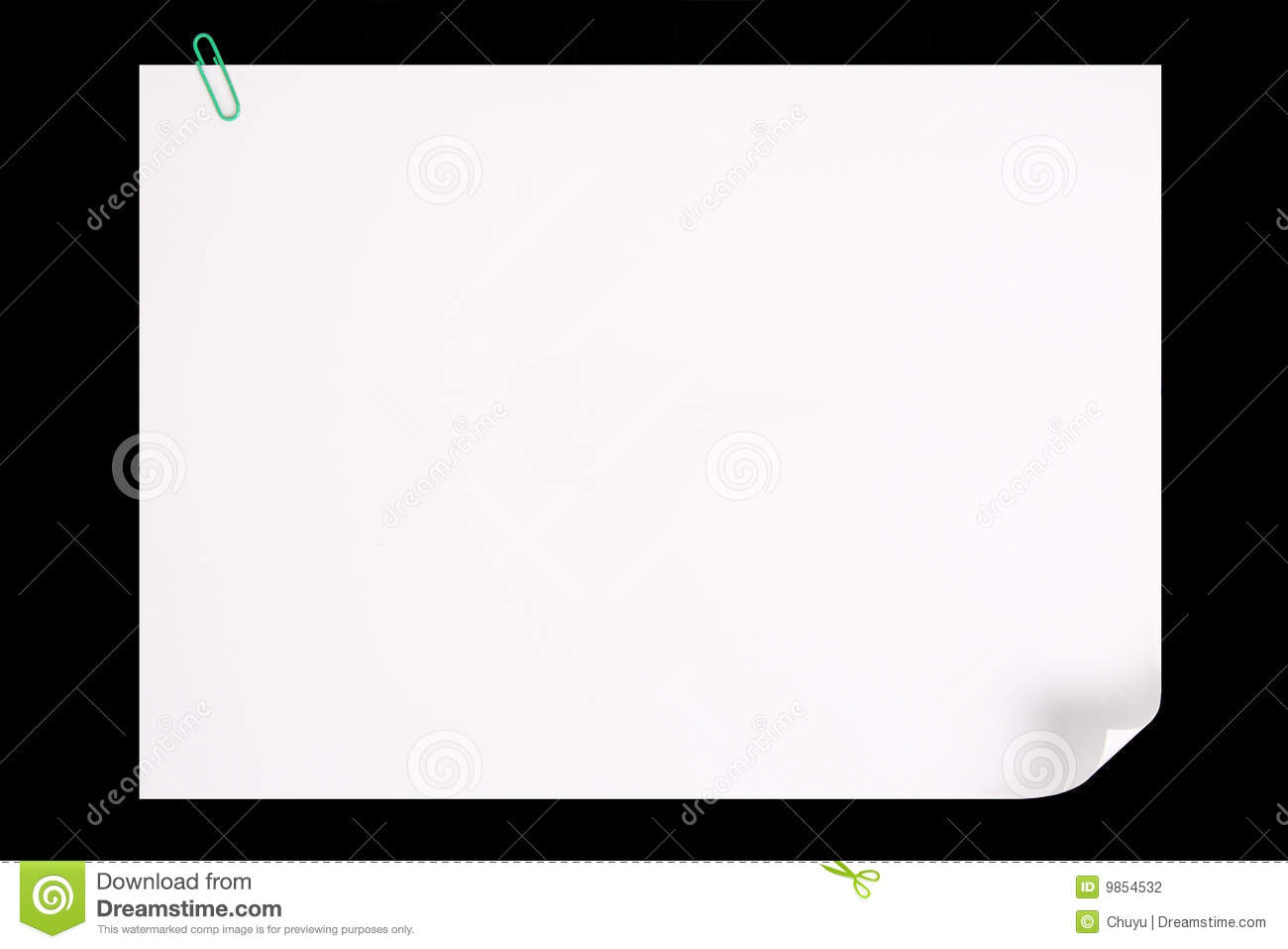 Paper Page Curl Stock Photo. Image Of Folded, Document