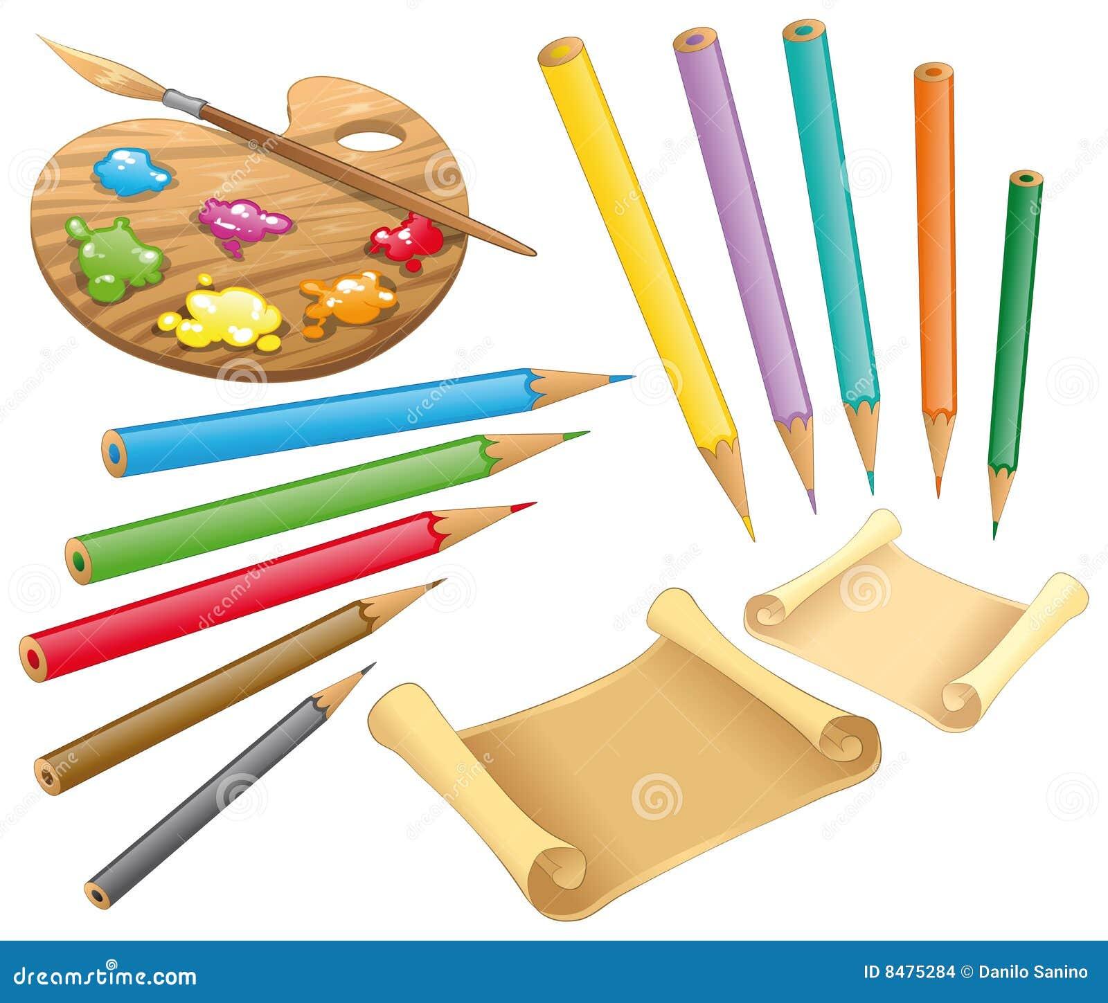 Paper pastell för palett