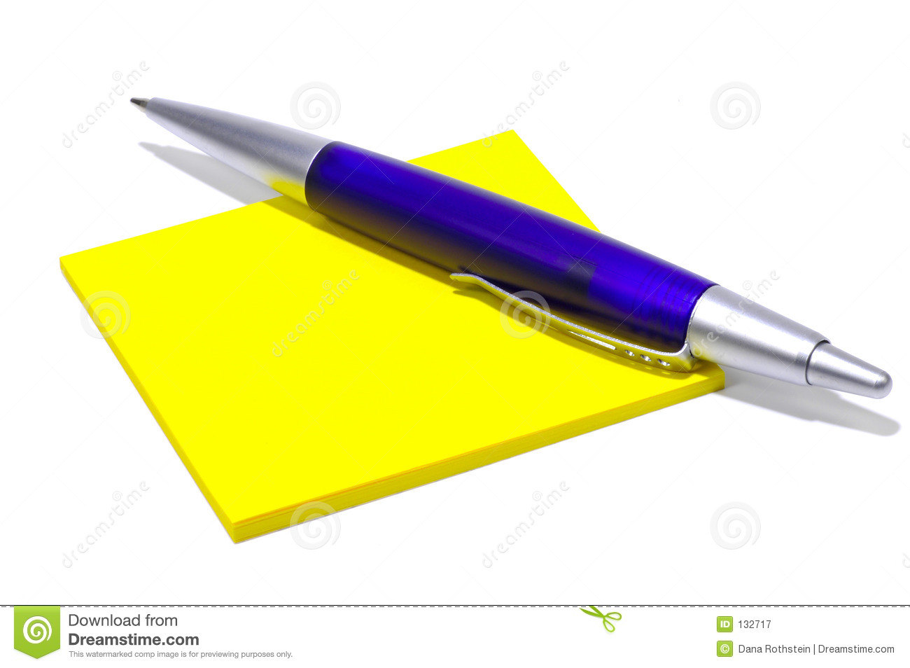 Paper And Pen Stock Image. Image Of Desk, Memo, Blue