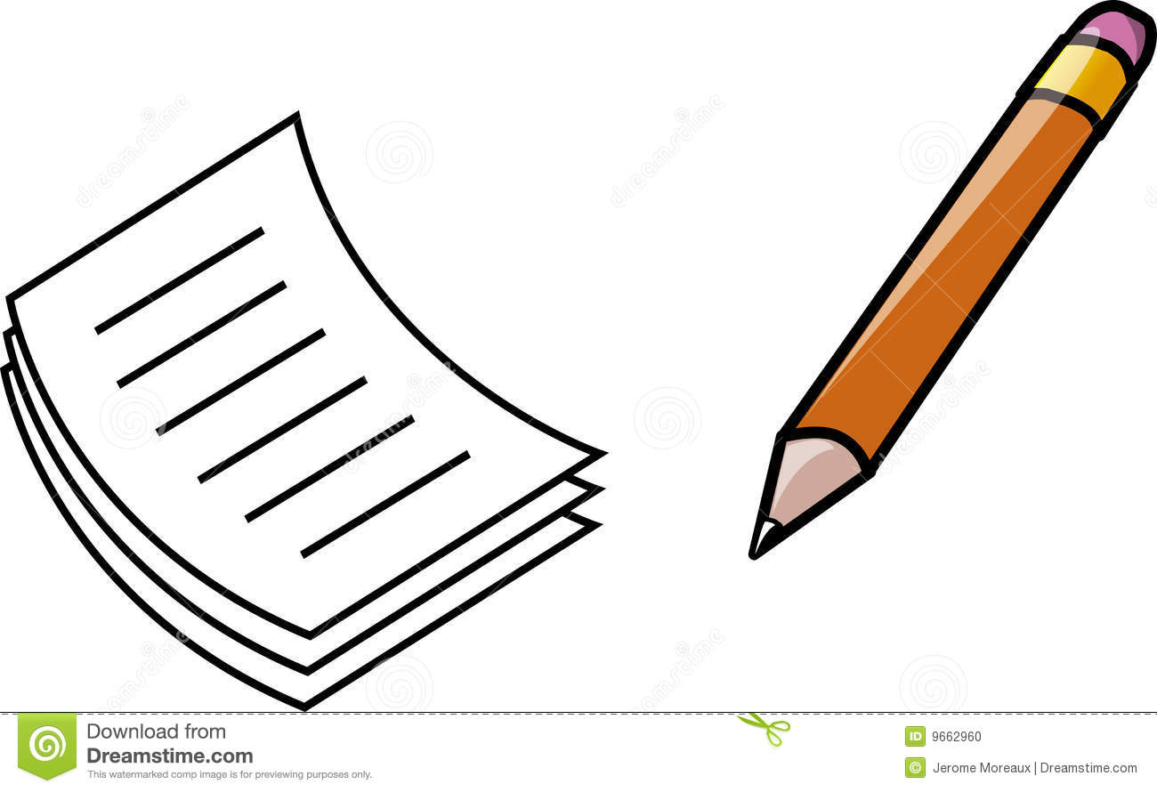 Paper And Pencil Stock Photo - Image: 9662960