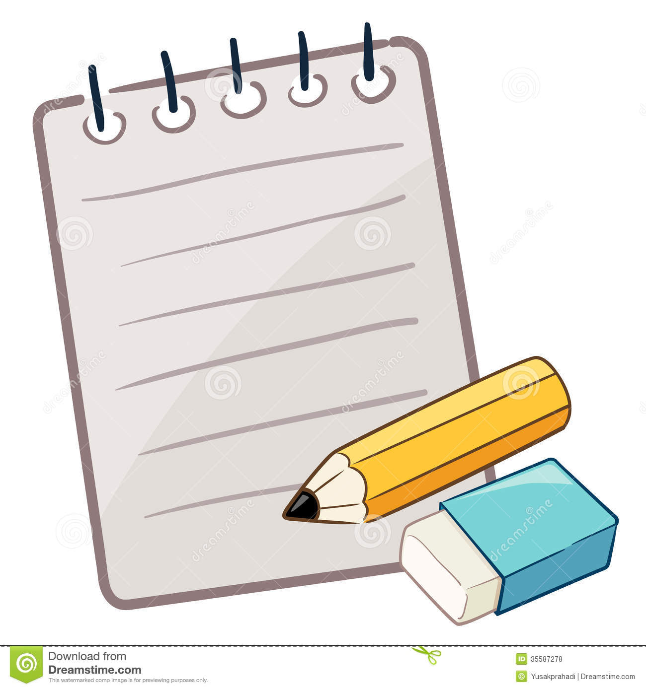 Paper With Pencil And Eraser Royalty Free Stock Photos - Image ...