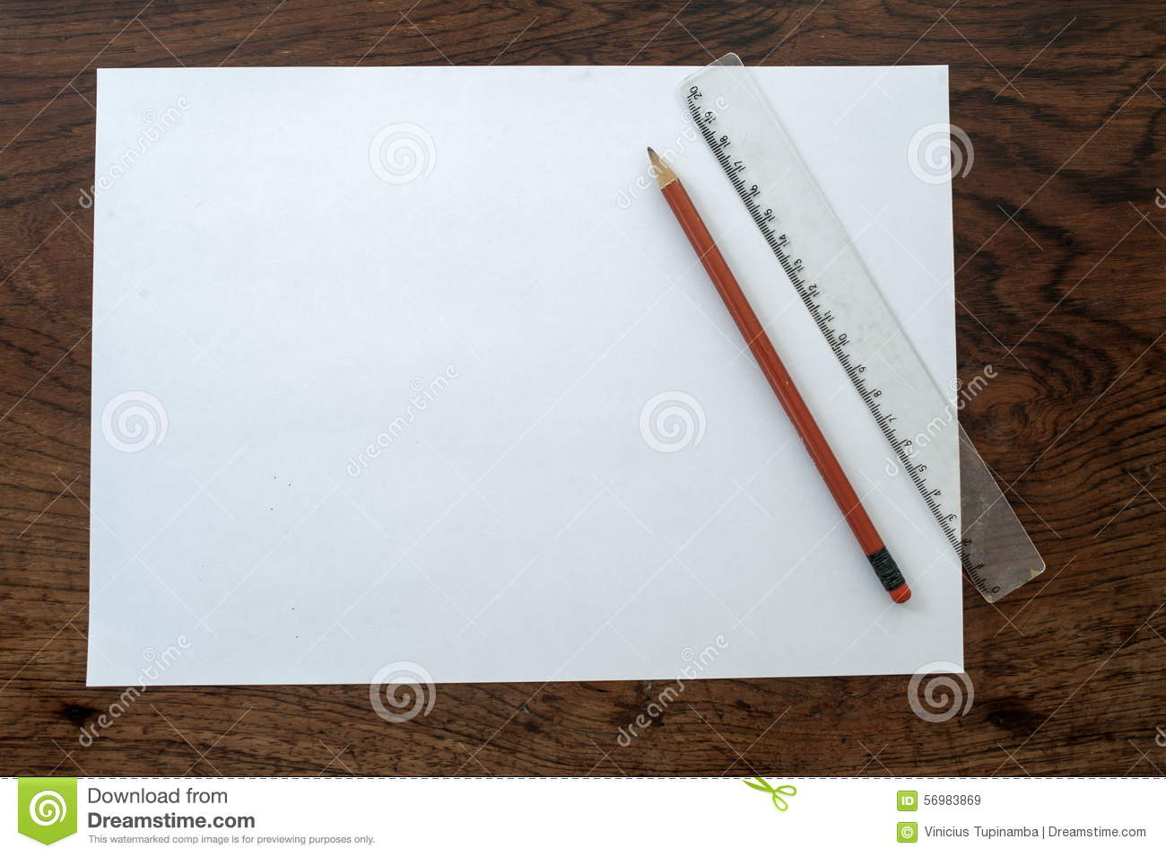 paper pencil and ruler stock image image of paper ruler 56983869