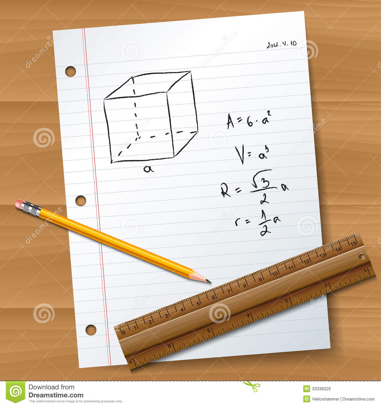 Paper With Pencil And Ruler Stock Photo - Image: 33336020