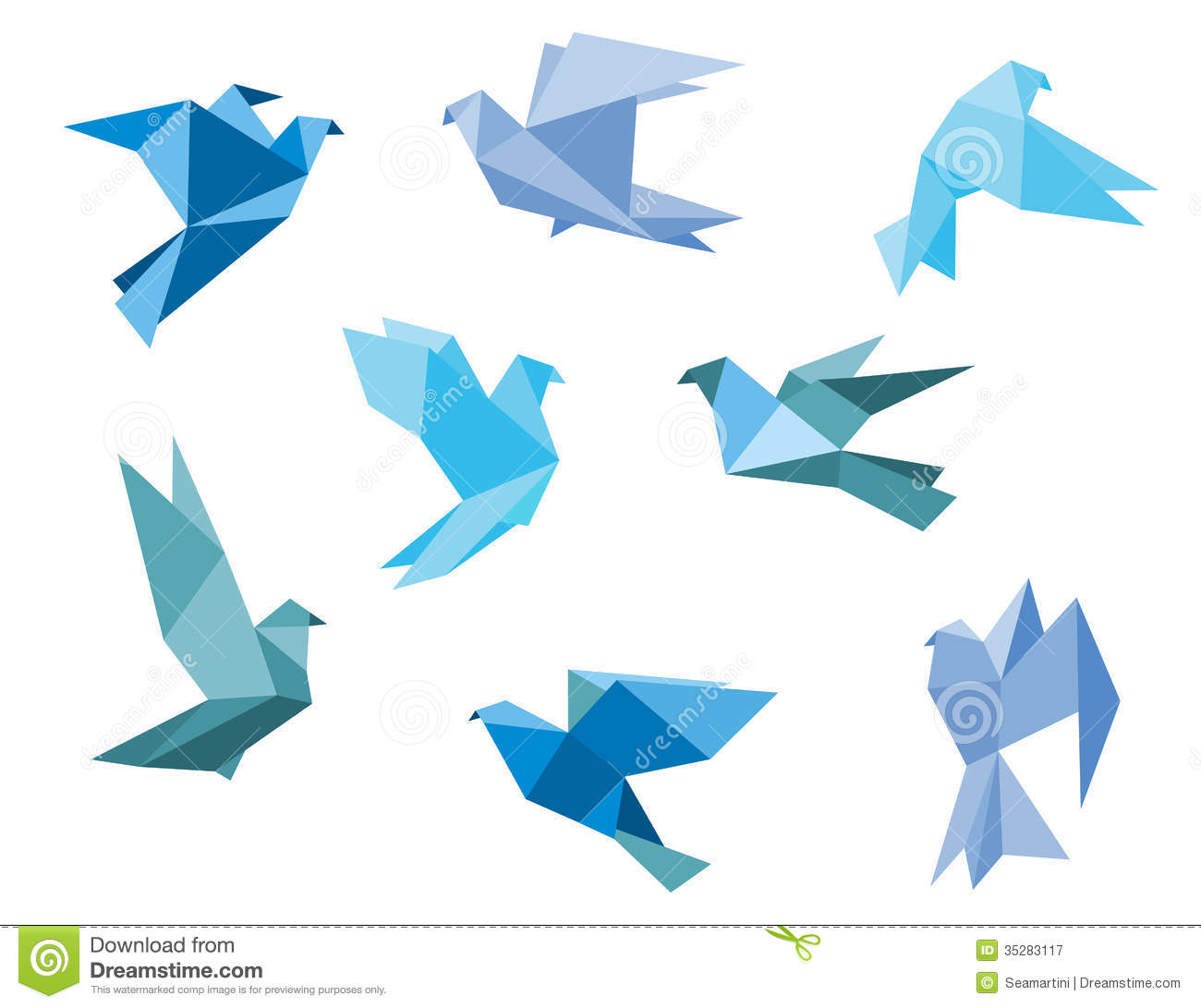 Paper pigeons and doves stock vector. Illustration of ... - photo#17