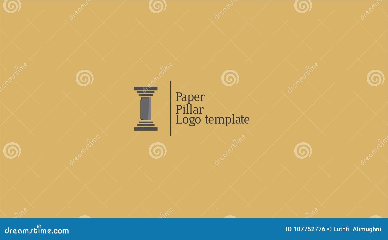 Paper pillar for news logo template stock vector illustration of download paper pillar for news logo template stock vector illustration of logotemplate pillar maxwellsz