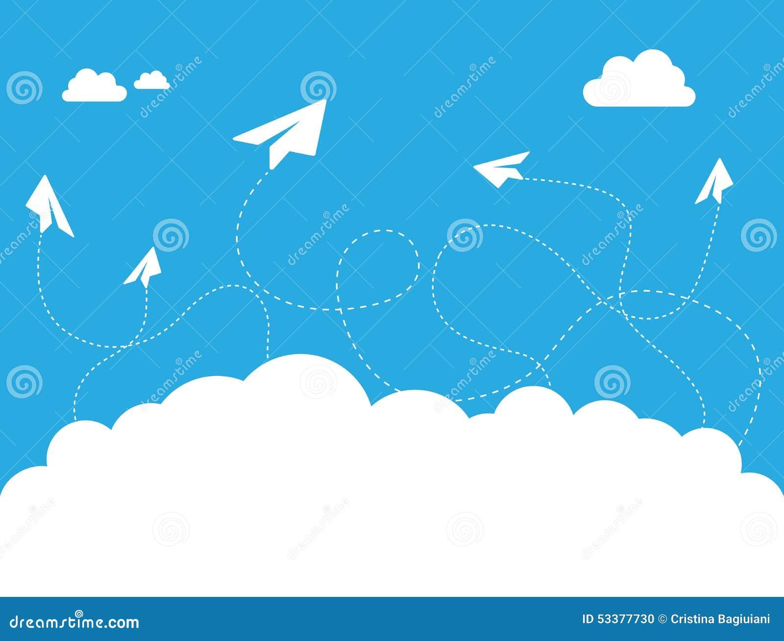 paper plane stock illustration - photo #29