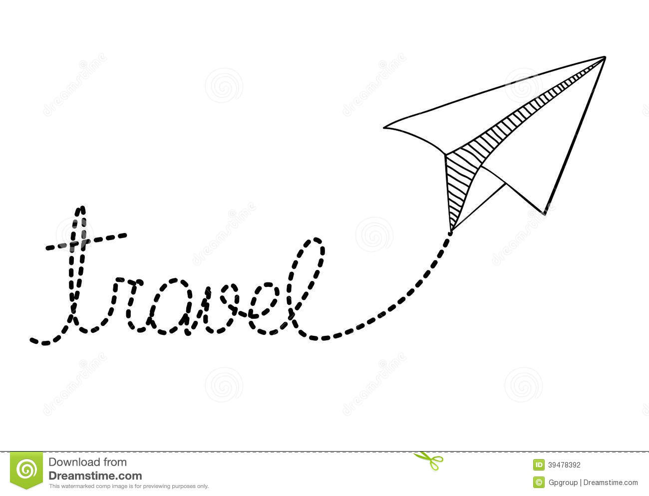 paper plane design stock vector  illustration of label