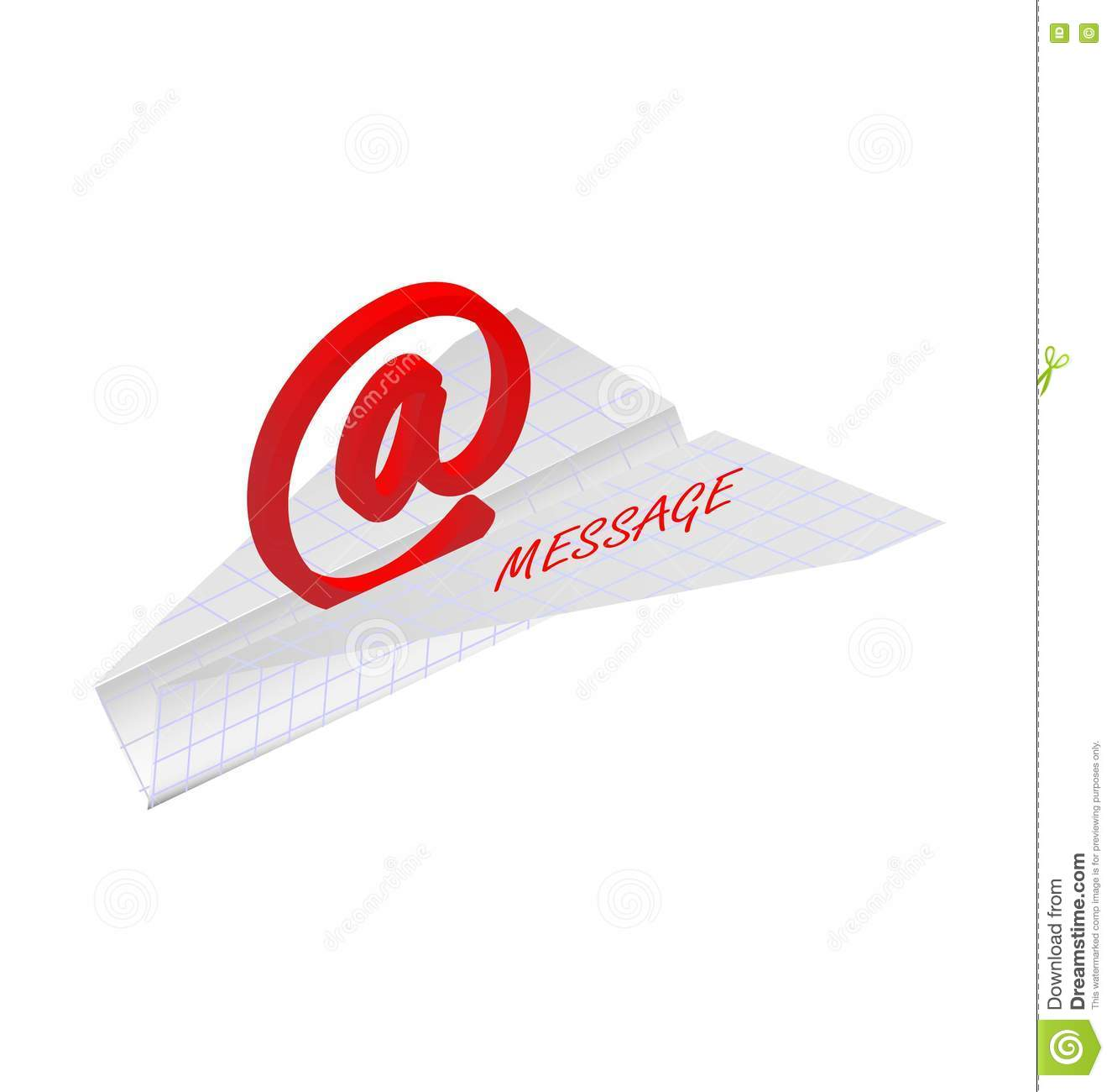 Paper Plane With E-mail Symbol Stock Vector
