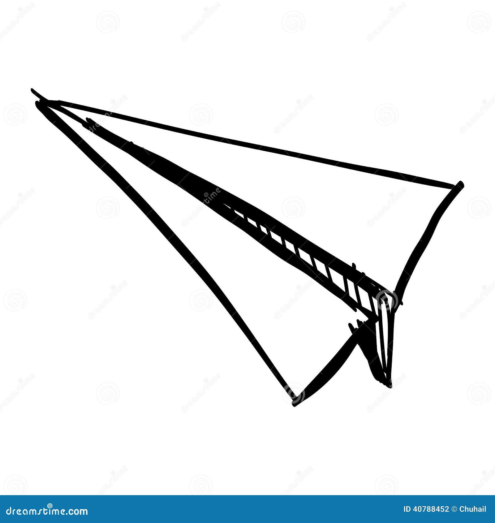 paper plane stock illustration - photo #32