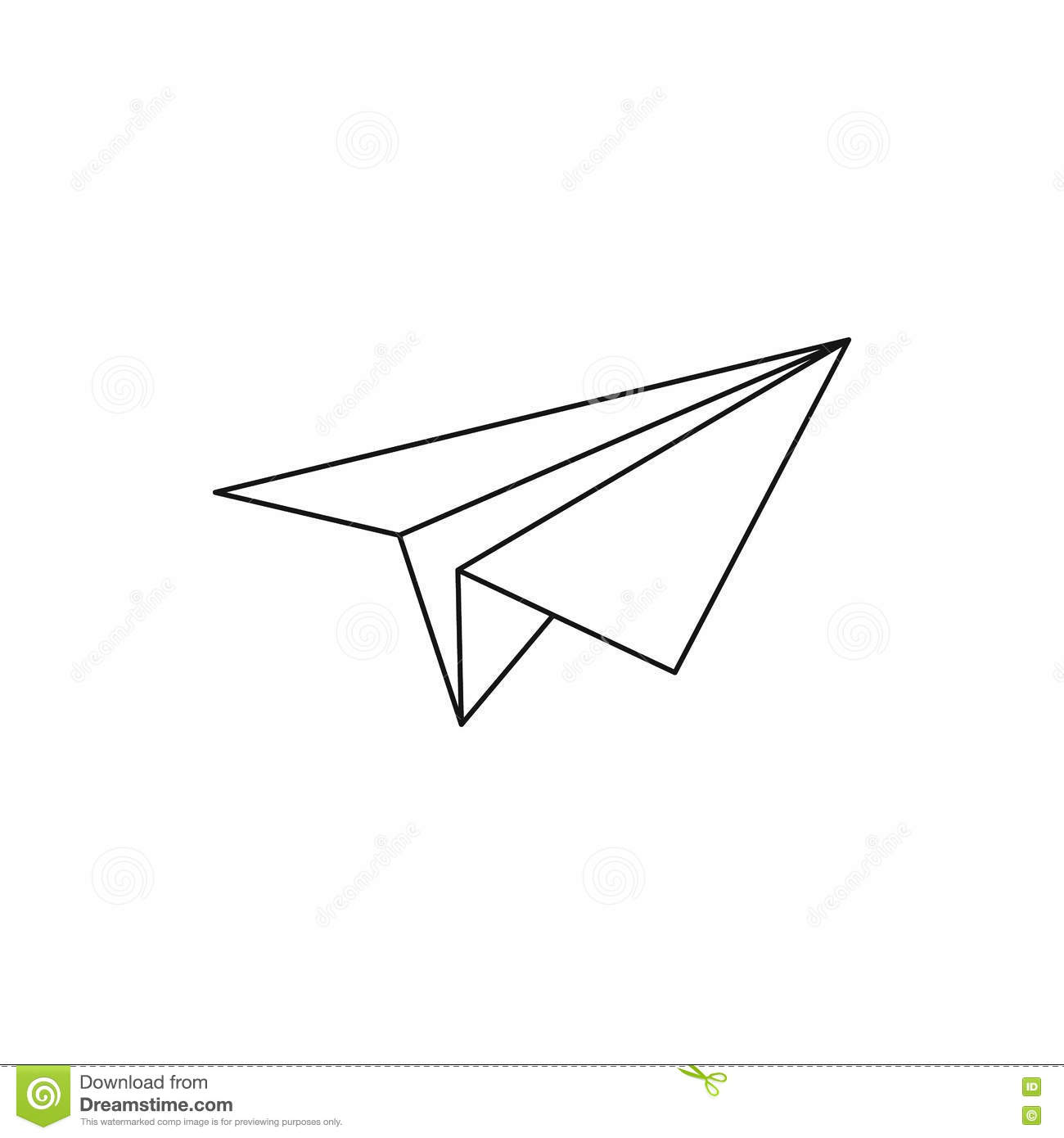 Paper Plane Icon, Outline Style Stock Vector ...