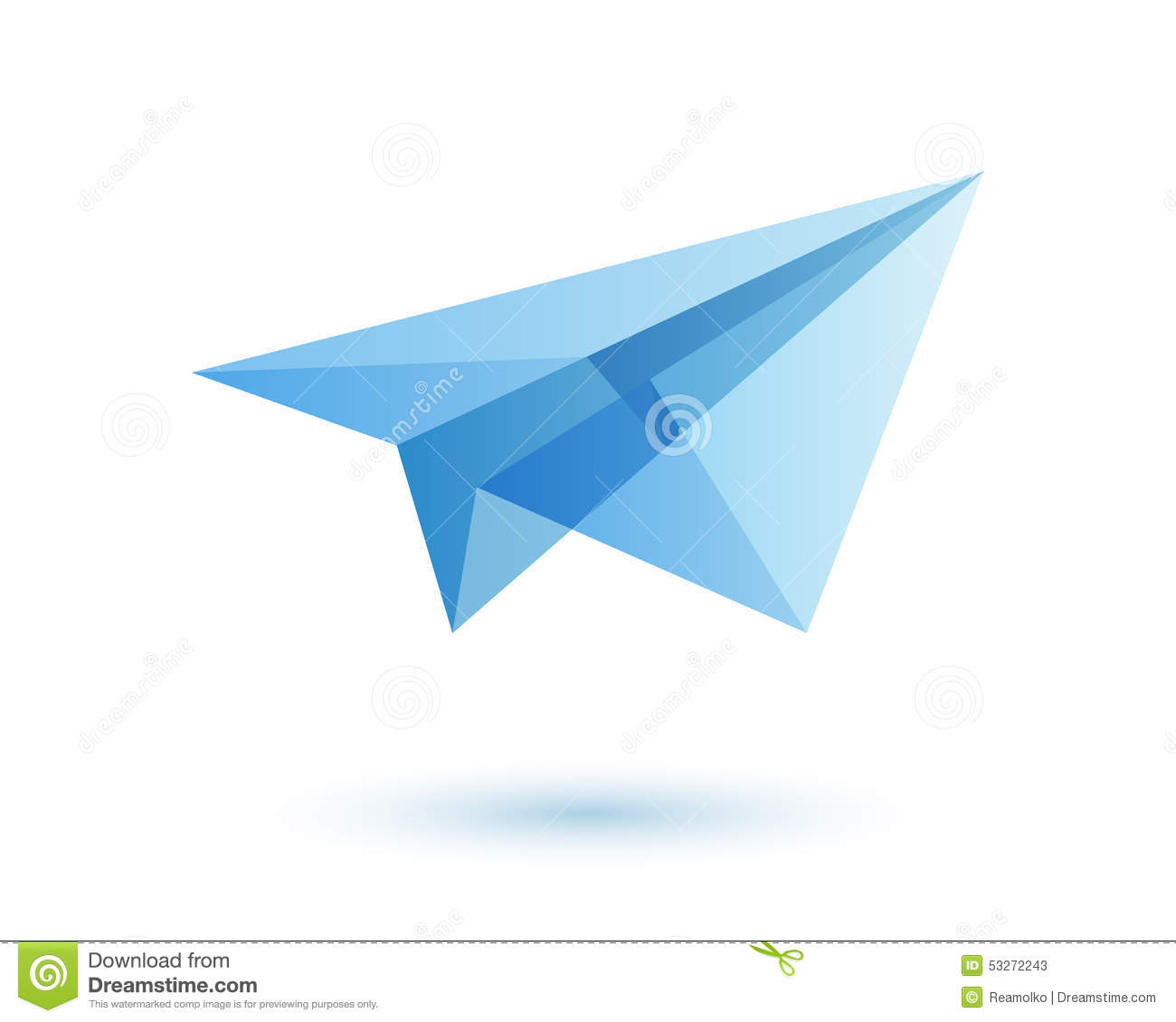 Paper Plane Logo Design Idea Stock Vector - Image: 53272243