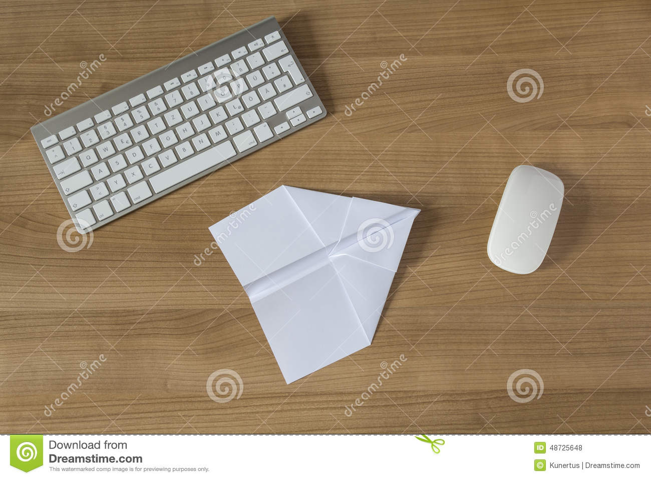 Paper Plane On An Office Desk Stock Photo Image Of Wing Symbol