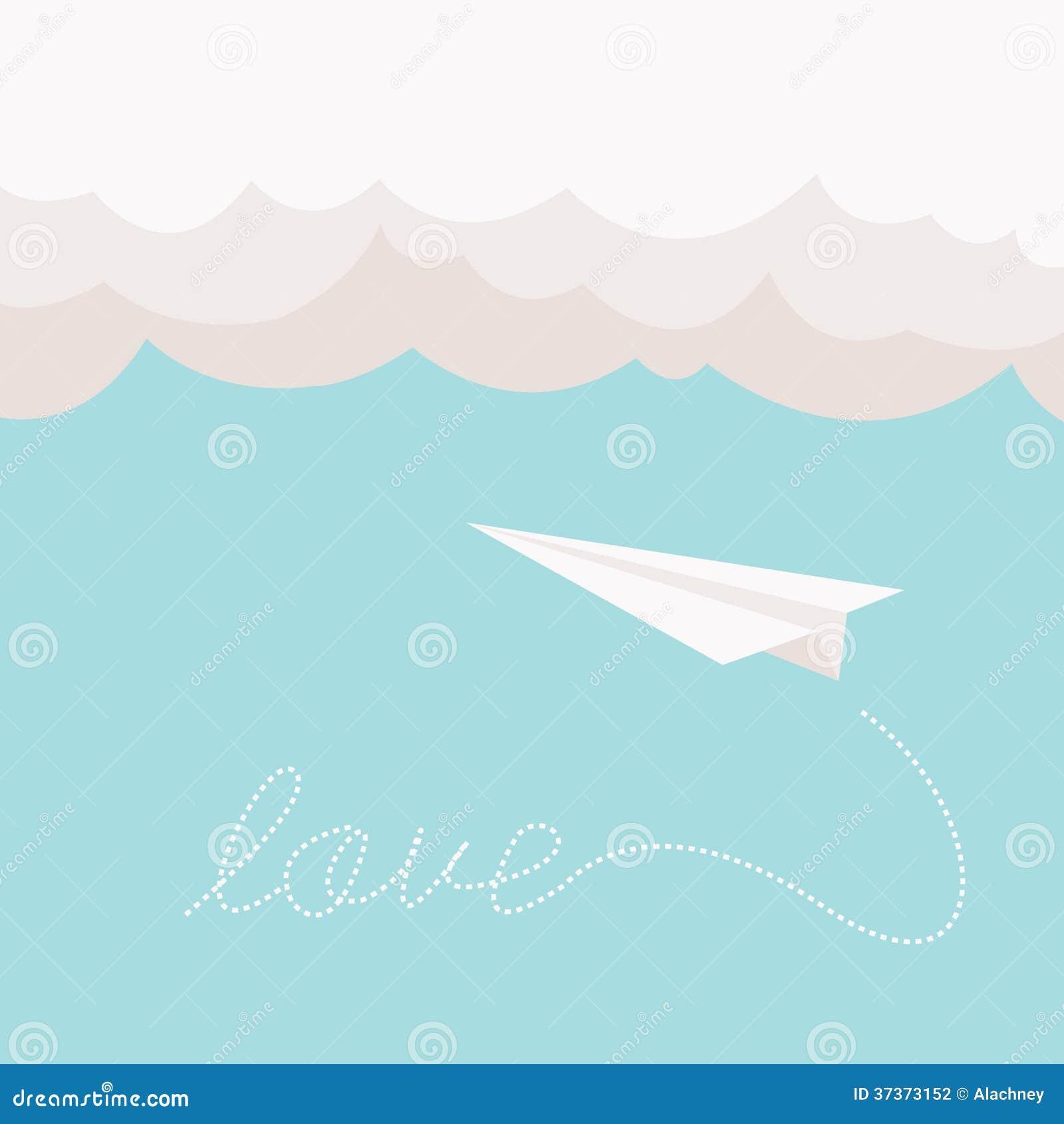 paper plane stock illustration - photo #3