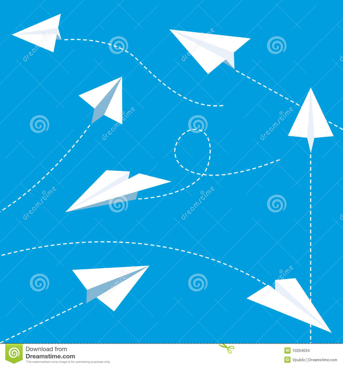 Paper planes stock vector illustration of school painting 10264616 paper planes stock images malvernweather Choice Image