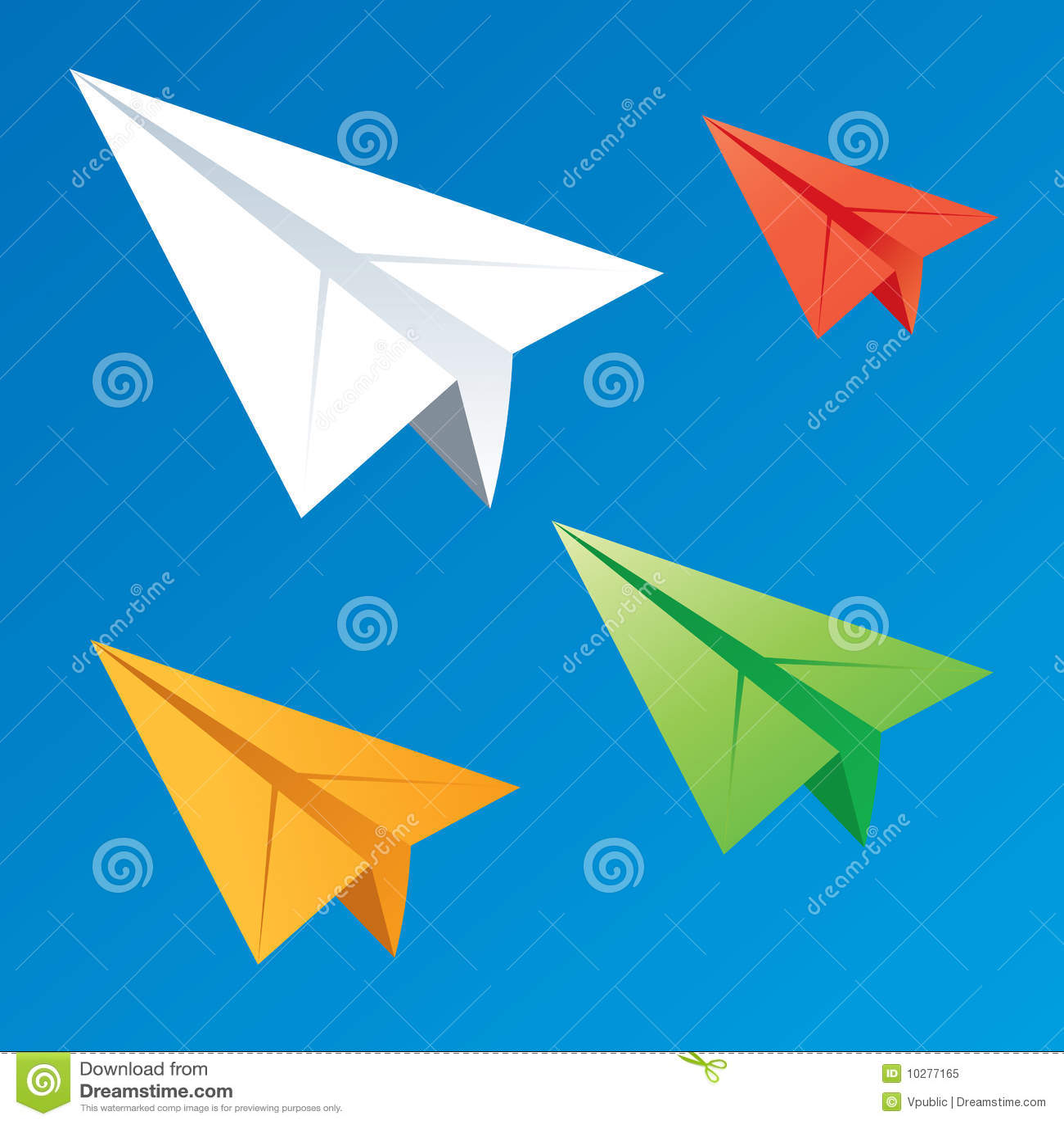 Download Paper planes stock vector. Illustration of school, fold - 10277165