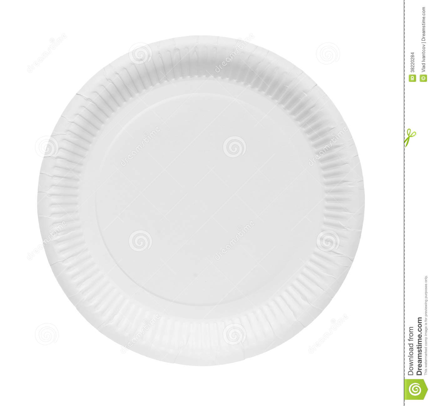 Paper plate  sc 1 st  Dreamstime.com & Paper plate stock photo. Image of carton circle isolated - 38220284