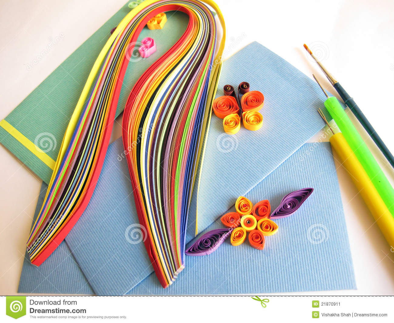 Paper Quilling Stock Images 1699 Photos