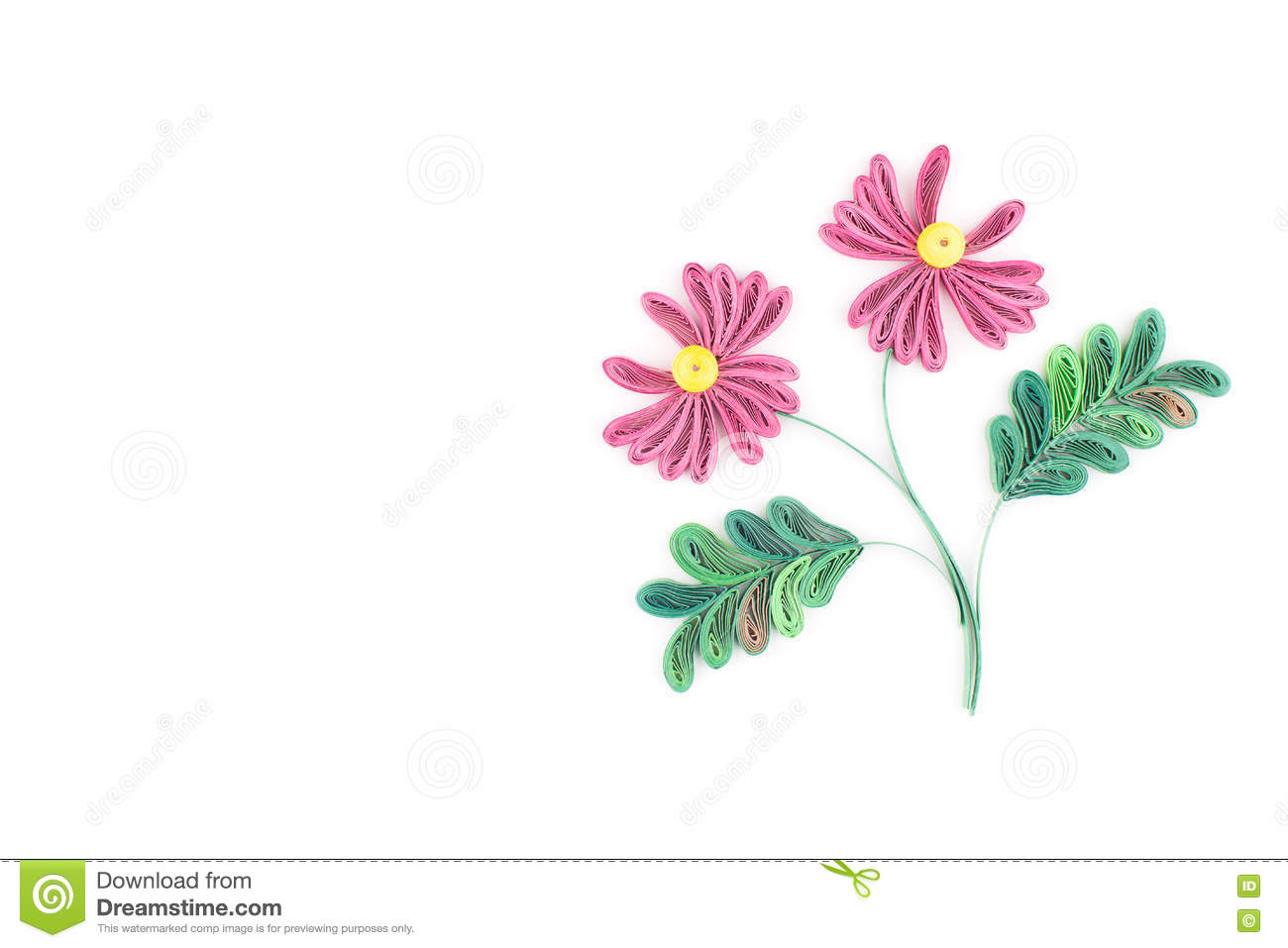 Paper Quillingcolorful Paper Flowers Stock Illustration