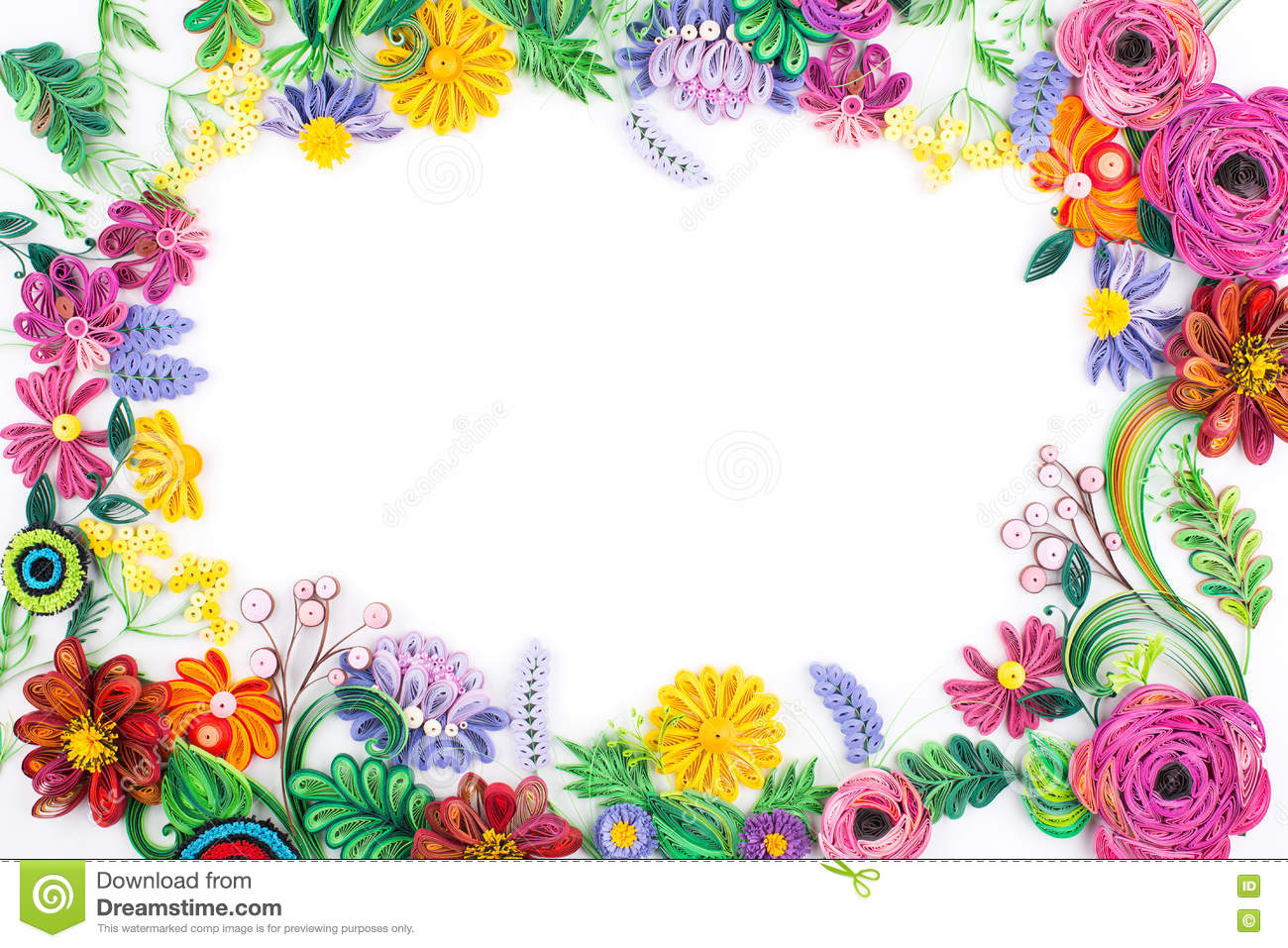 Paper quillingcolorful paper flowers stock image image of flower paper quillingcolorful paper flowers mightylinksfo