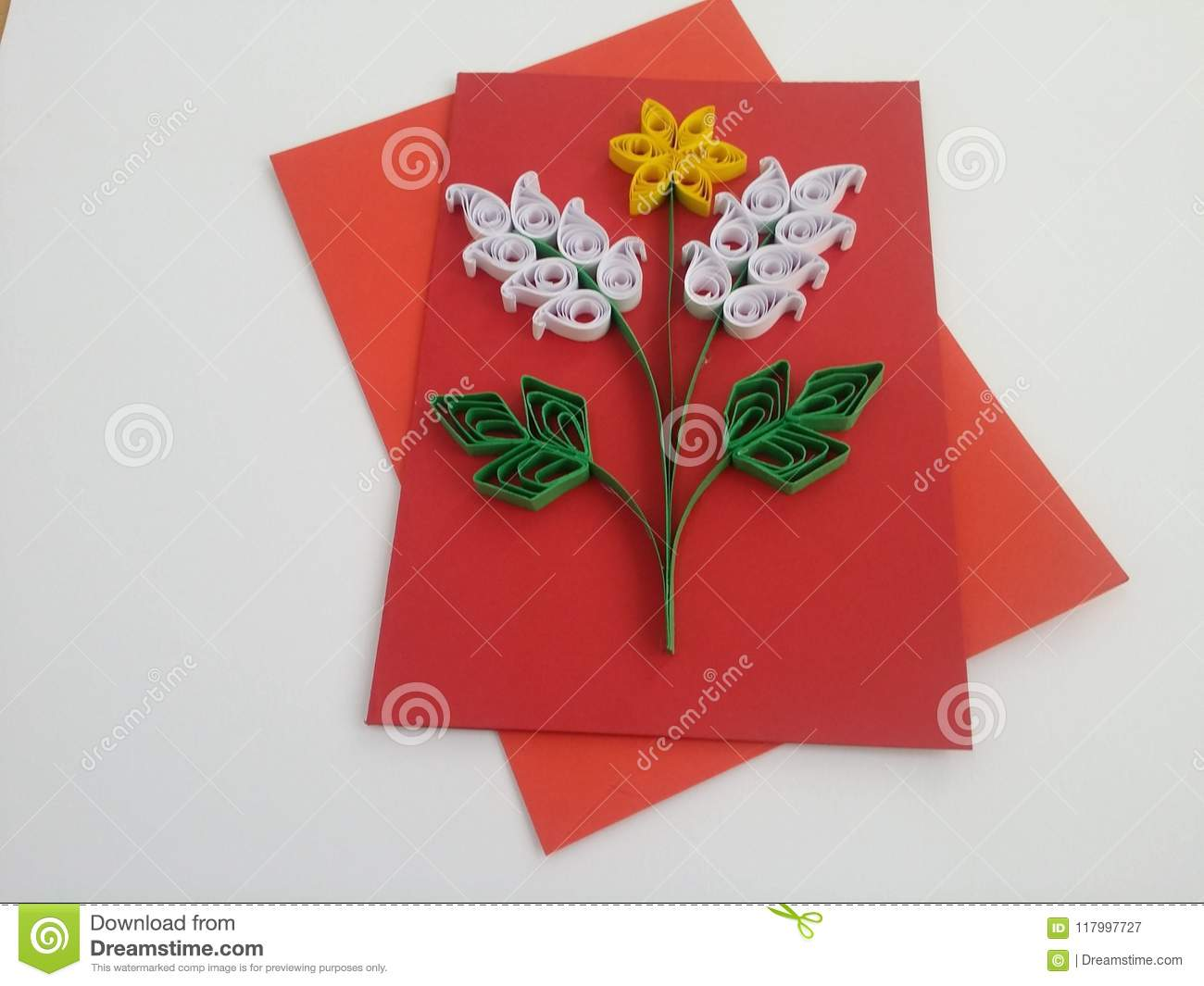 Excellent Quilling Greeting Cards Paper Art Stock Image Image Of Cards Personalised Birthday Cards Cominlily Jamesorg