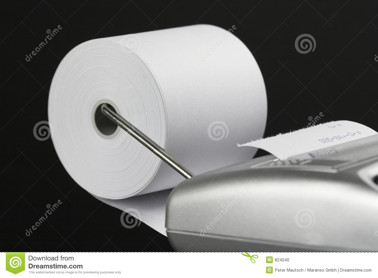 Paper Roll Of A Calculator 03 Stock Photo - Image: 824040